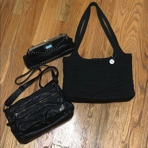 3 Handbags: The Sak + Cynthia Rowley + Roxy